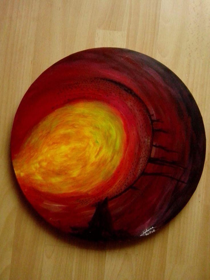 Explosion  50x50 cm Peinture acrylique