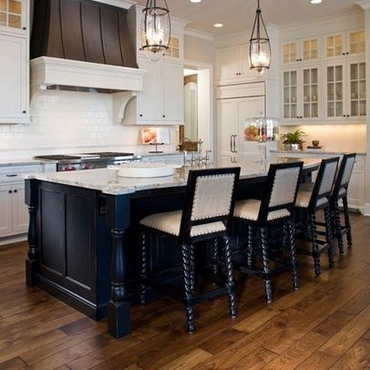 8 Foot Kitchen Island Design Hickory Flooring