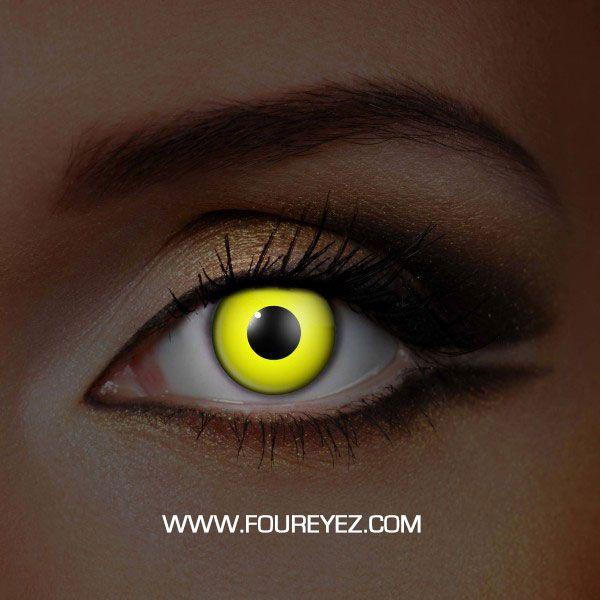 Yellow UV Contact Lenses (Pair)