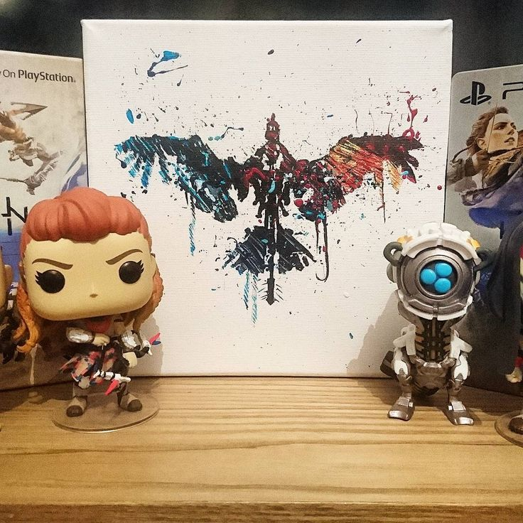 Newest canvas off the misses! @eirianceri96 . . #horizonzerodawn #horizon #zero #dawn #art #canvas #playstation #guerillagames #guerilla #games #gamestagram #playstation4 #exclusive #aloy #watcher #funkopop #funko #pop #stormbird #gaming #gamer #videogames #artist #limitededition #painting #paint . . @colbyco22gaming @michael_elliot_ @zero_sleep @whitetiger_gaming @guerrillagames @eirianceri96 @horizonzerodawn_official @aloy.hzd @seanbeawkward @gamescapeuk @originalfunko @funkopopsuk