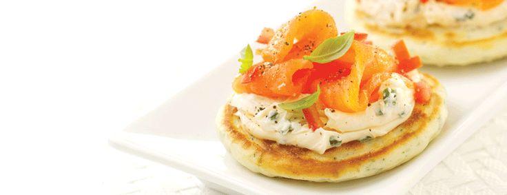 Pancakes with cream cheese & smoked salmon | Hand Mixer Kenwood UK
