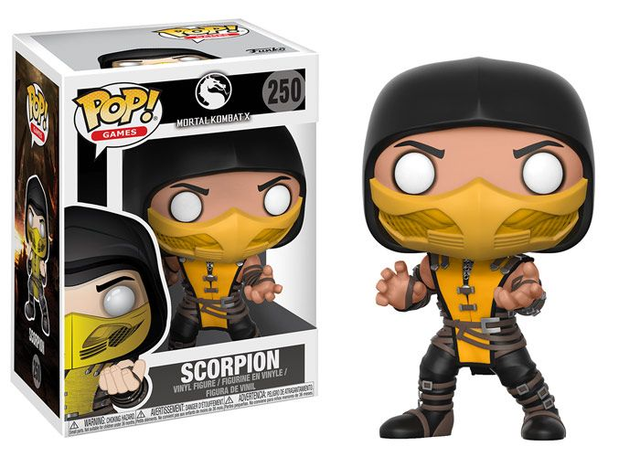 """Pop! Games: Mortal KombatFunko is excited to announce the popular video gamefranchise Mortal Kombat is now receiving the Pop! vinyl treatment.This series features the undead ninja specterScorpion, and his nemesis Sub-Zero.In addition, the bicycle kicking Liu Kang, Kitana with her deadly fan,and Raiden with his recognizable coolie hat! Look for Sub-Zero chase piece!A rarity of 1-in-6. Add them to your collection this Winter! Look for Exclusives! Scropion, only at Hot Topic!A 6"""" Pop! of…"""