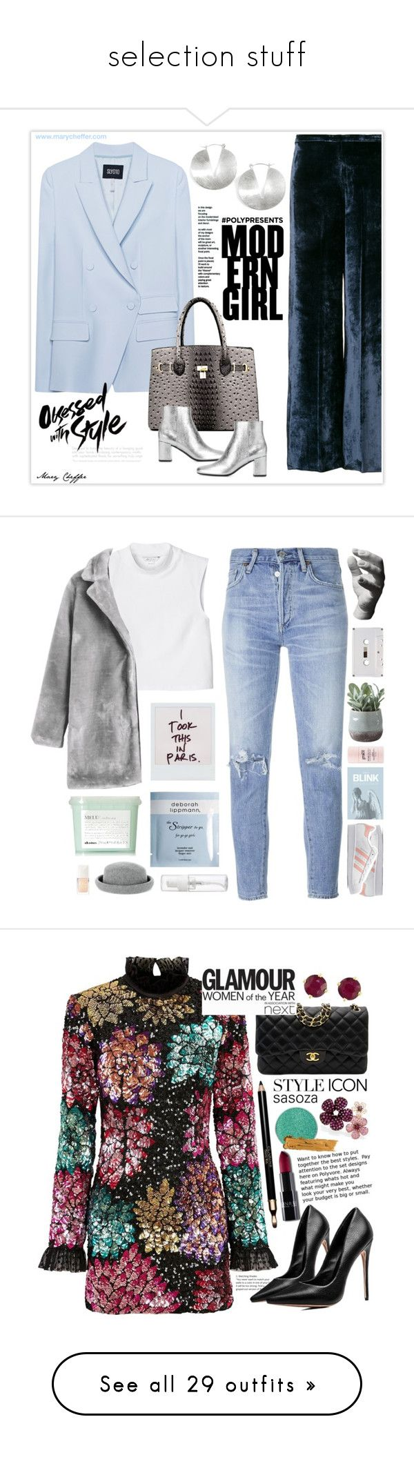 """""""selection stuff"""" by emolgahappy ❤ liked on Polyvore featuring Citizens of Humanity, Monki, Davines, Deborah Lippmann, Warehouse, Christian Dior, adidas Originals, philosophy, Torre & Tagus and Harry Allen"""