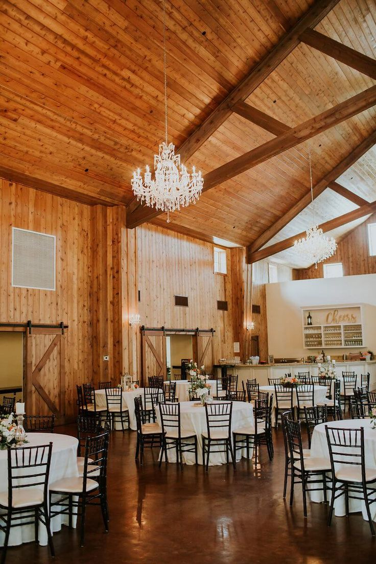Rustic Texas Wedding reception at the carriage house