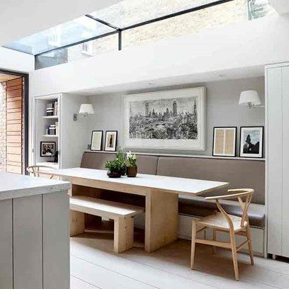 Dining Space with Banquette Seating in Small Space Design Ideas on HOUSE. Clever ideas for making small spaces look bigger - from storage to furniture