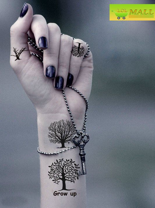 Unique idea for tree tats on the wrist. I wouldn't do this, but it's really cool.