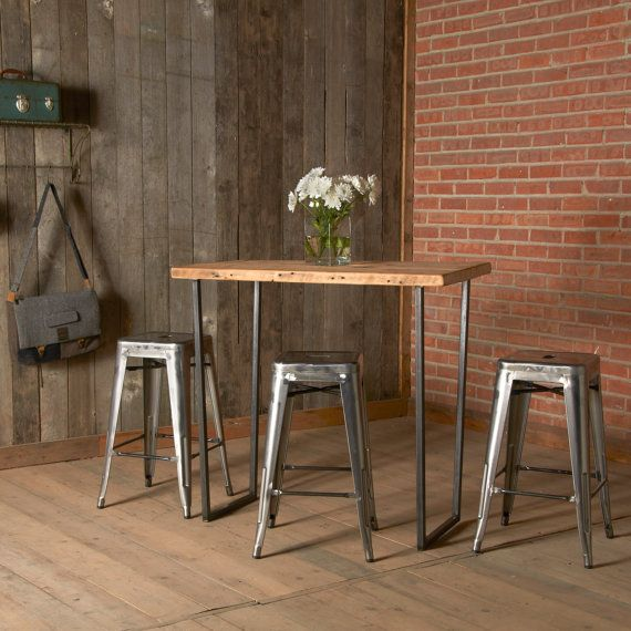 Brooklyn Reclaimed Wood Dining Table With Bar Height Or Counter Option Custom Furniture For Your Unique Space Sustainable And Made In The USA