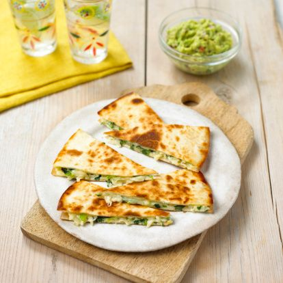 Plant based and Gluten Free Avocado Pesto Quesadilla Recipe