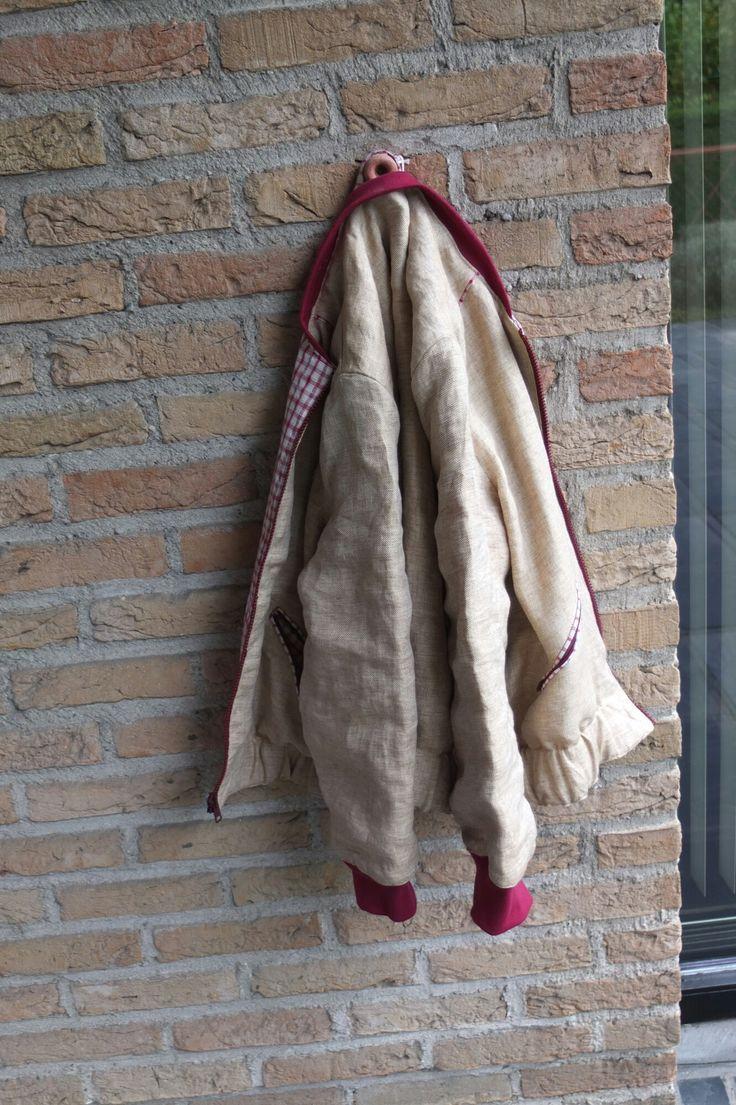 Herfst 2016 : linnen jasje voor Helena (urban style)