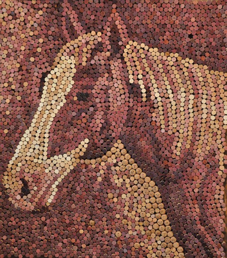 Impressive wine cork art found online #SanSebastian #StartDrinking