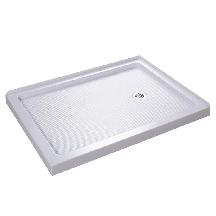 dreamline slimline 48in l x 36in w white acrylic rectangle corner shower base dlt1036482