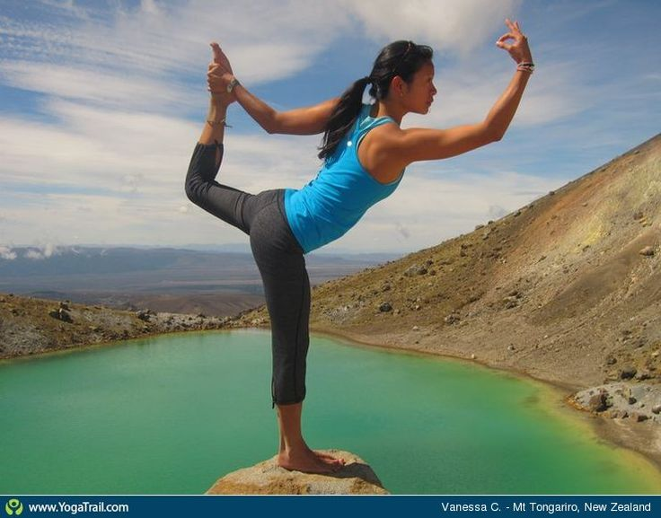 """Anywhere #Yoga Contest: """"Dancing above volcanic lakes in New Zealand!"""""""