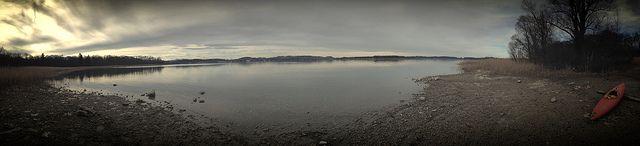 #Ausflug auf die #Herreninsel im #Chiemsee im #Februar 2014 - Eine einsame #Bucht - #see #ufer #lake #water #weather #wetter #wanderung #wandern #entdecken #chiemgau