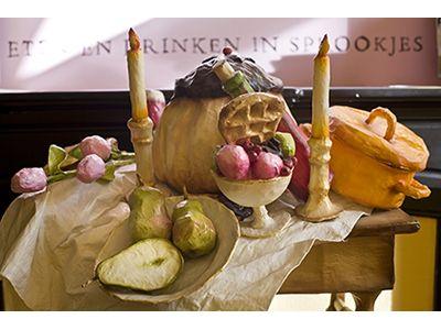 Giftige appels op gouden bordjes - de Sprookjeskamer | Literair Museum Hasselt
