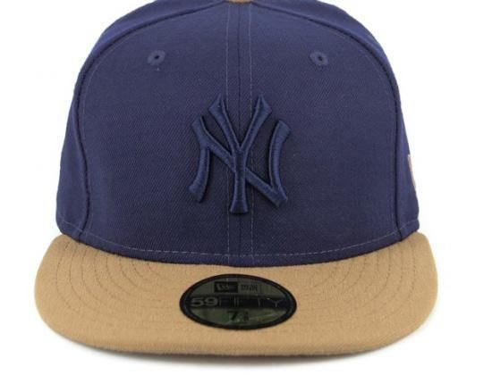 outlet store 9b899 b0c75 ... closeout navy wheat new york yankees 59fifty fitted cap by new era x mlb  8e9d7 56a3f ...