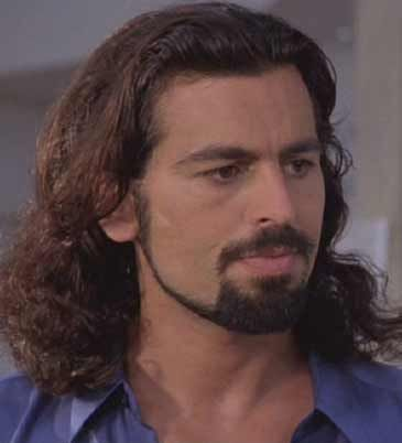 One of the very few men with long hair and facial hair that I find attractive.  Very attractive.  Oded Fehr.