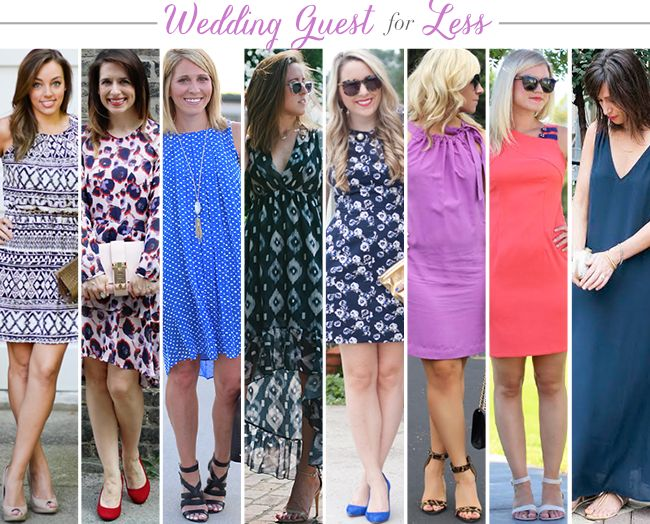 Budget Friendly Wedding Guest Dresses // Blue Floral Fit and Flare Dress