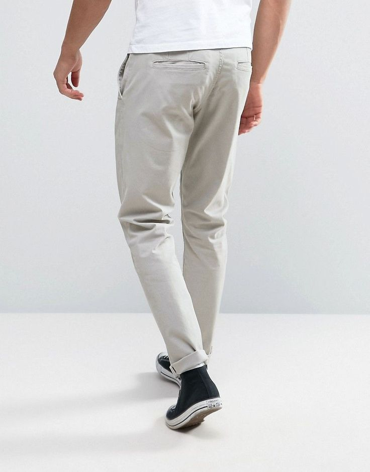 Only & Sons Slim Fit Chinos in Light Gray - Gray