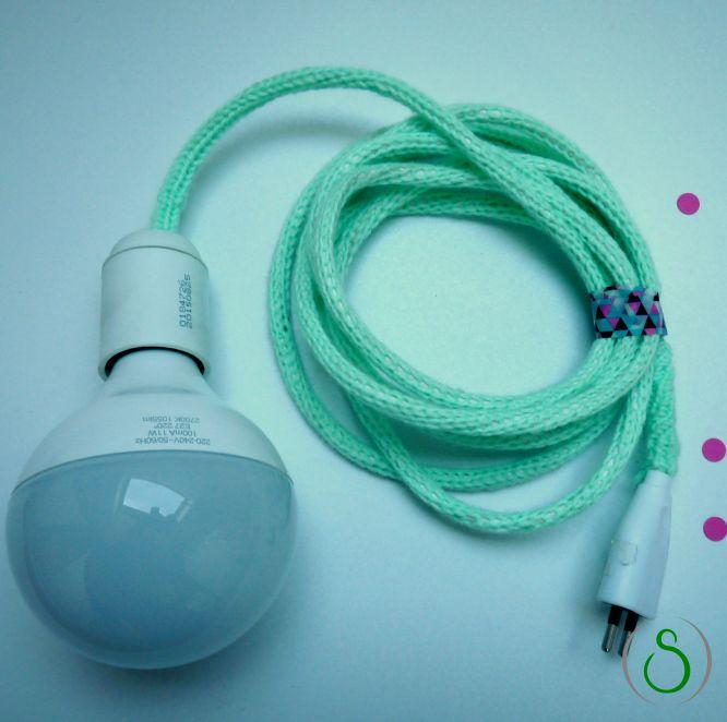 Lampe tricotin DIY box jour de pluie