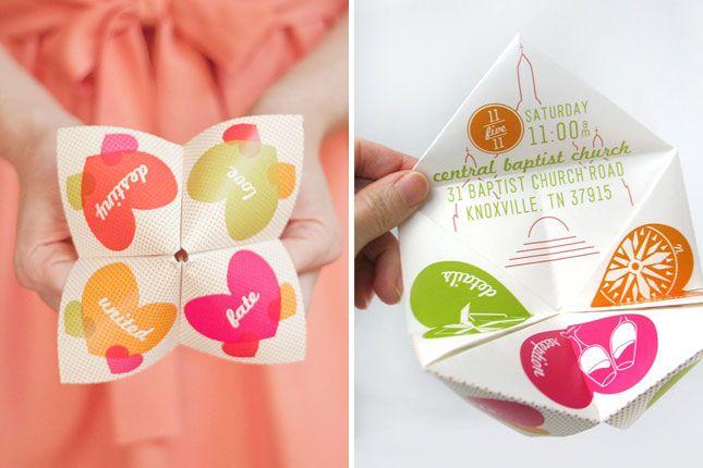 Fortune Teller Wedding Invitation   25 Creative Invitations