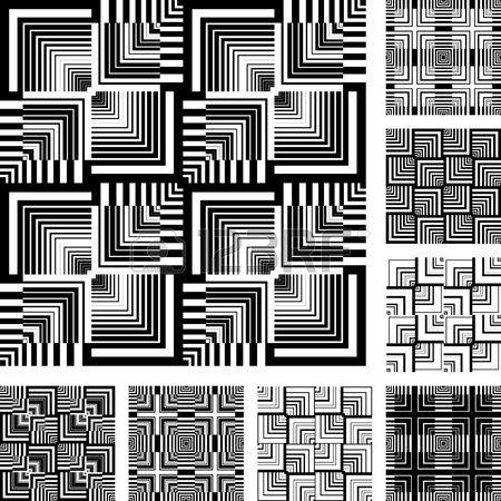 Seamless patterns mis dans la conception de l'art, op. Résumé des textures…