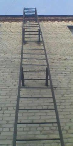 Лестница пожарная вертикальная типа СГ