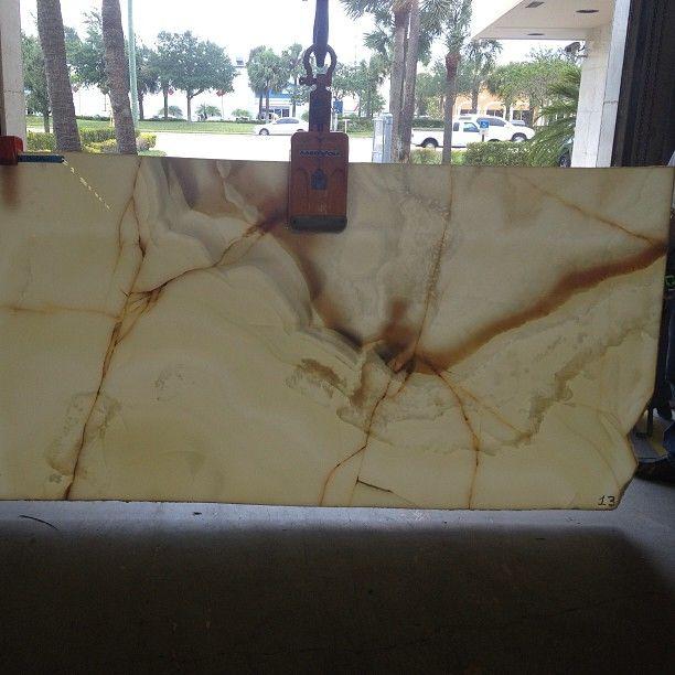 White Onyx Slab #onyx #slab #naturalstone #natural #stone #warehouse