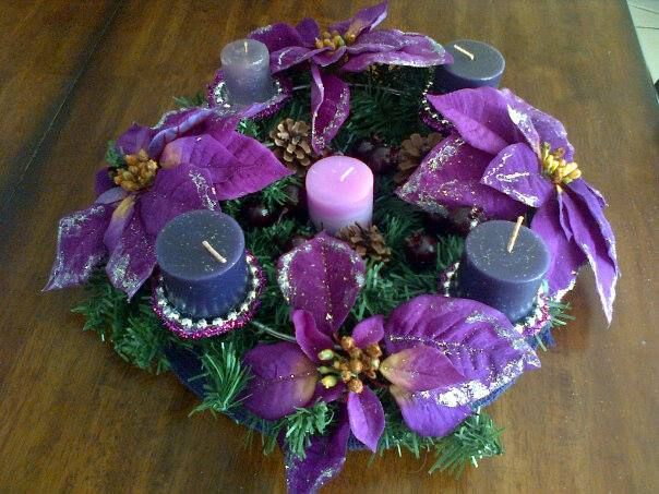 Purple Advent wreath   X-MAS RANDOM   Pinterest