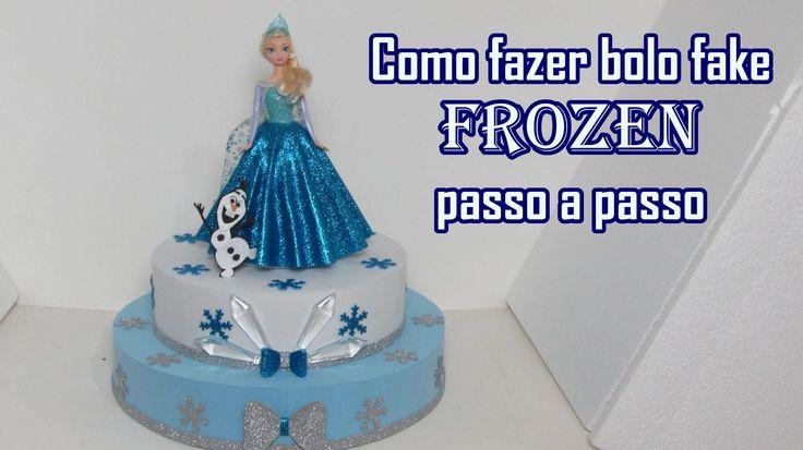 O vídeo mostra a confecção passo a passo de bolo artificial do tema Frozen. Molde: https://www.dropbox.com/s/vwa9pyo2ufstphv/molde%20frozen.pdf?dl=0 Materiai...