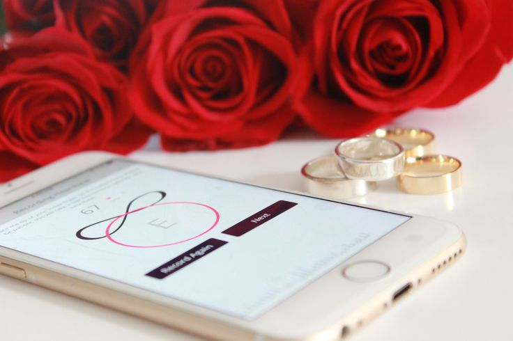 Design and Personalize your Wedding Band with Your loved ones ACTUAL HEARTBEAT from the Everly Design App