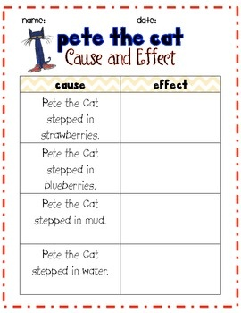 Pete the Cat: Cause and Effect