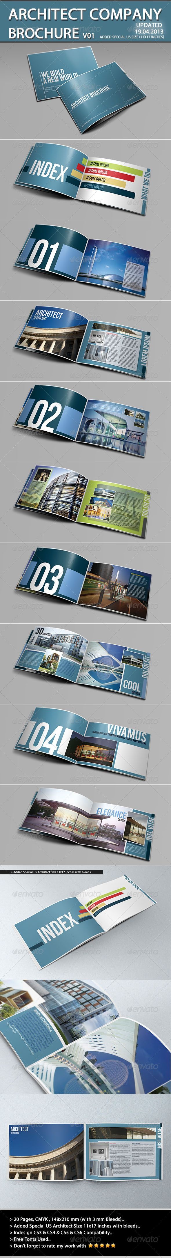 Architecture Brochure Template - Portfolio Brochures
