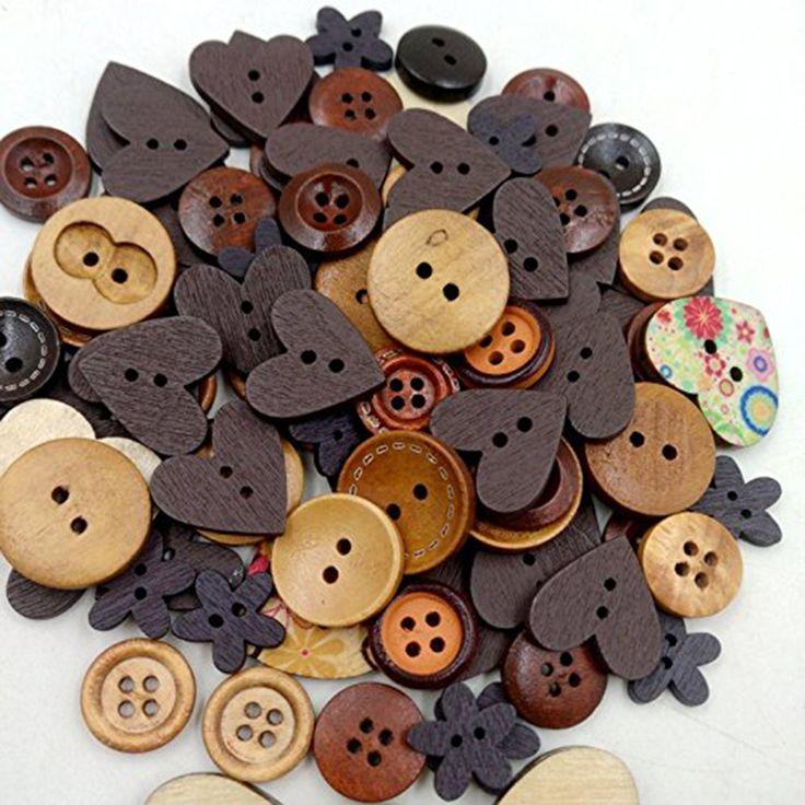 Дерево Деревянные швейные кнопки формы сердца кнопок Craft скрапбукинга малыша скрапбукинг DIY Craft Свадебные украшения Рождество