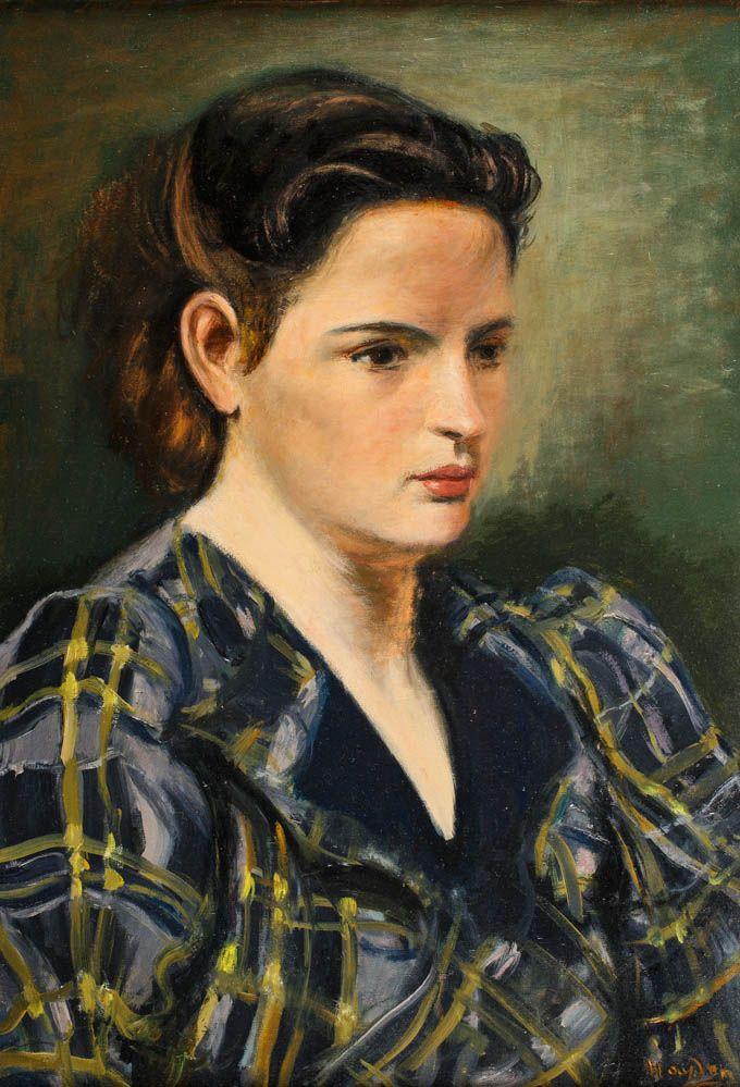 HENRYK HAYDEN (1883 - 1970)  PORTRET MŁODEJ DZIEWCZYNY   olej, płótno / 55 x 38 cm
