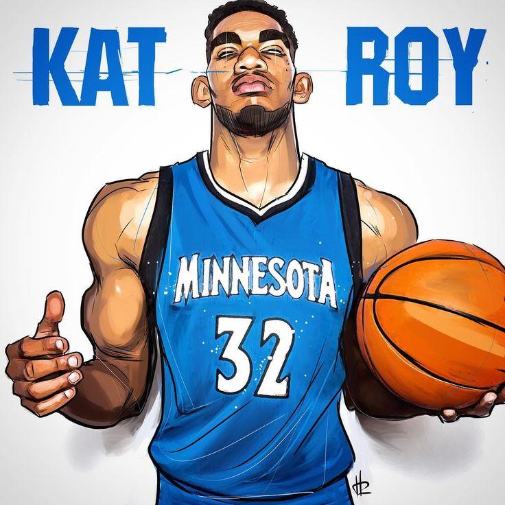 Karl-Anthony Towns KAT ROY Illustration - Hooped Up