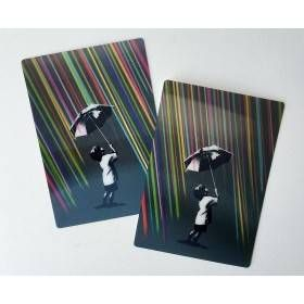 Not Everything Is So Black & White POSTCARD SET Signed By Eelus
