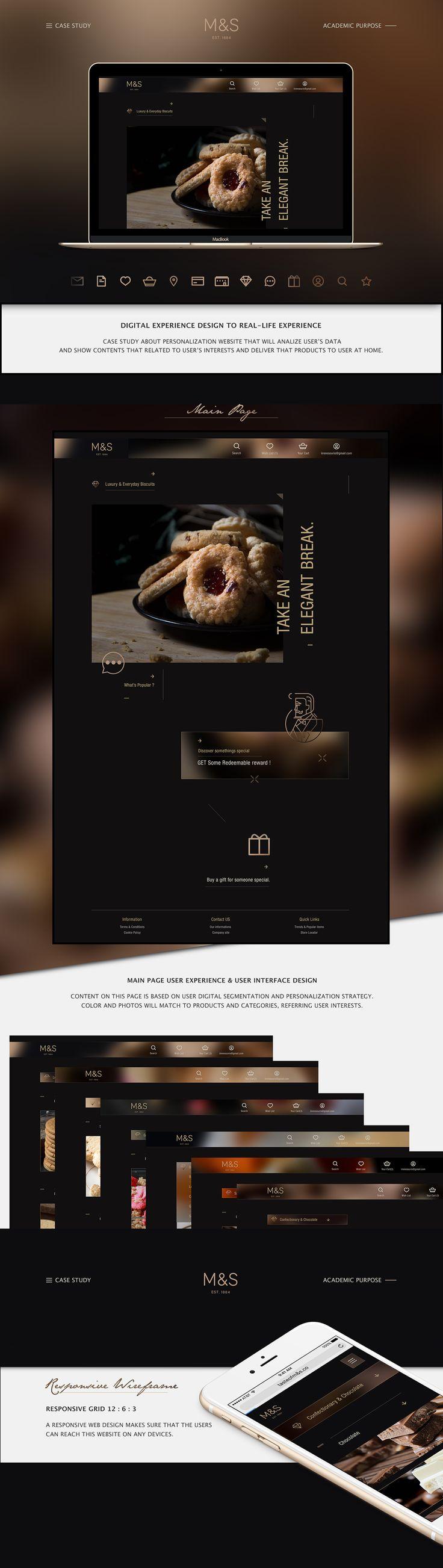 Digital experience design for Marks & Spencer plc on Behance