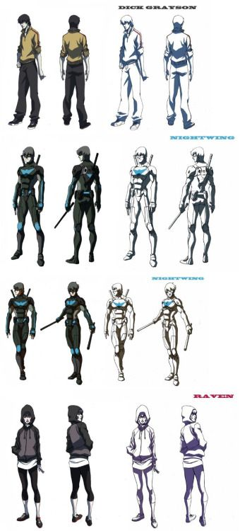 Legend of Korra Director/ Animation Producer Ryu Kihyun early concept designs for a cancelled NIGHTWING: THE ANIMATED SERIES during his stay at WB in '09. http://www.comicbookmovie.com/animated_features/news/?a=64996