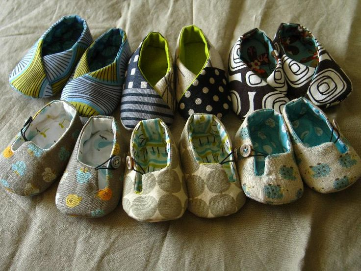 Sewing: baby shoes