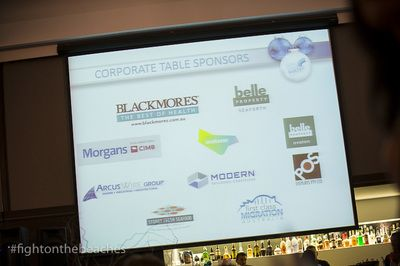 Our Corporate Table Sponsors; Lend Lease, Blackmores, Belle Property Seaforth, Belle Property Avalon, First Class Migration, POS Displays, Morgans, Modern Building Certifiers, Arcus Wire and Sydney Fresh Seafoods.