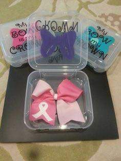 Cheer bow container. Dollar tree sandwich boxes