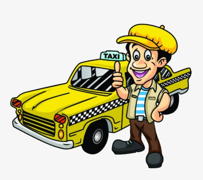 Cartoon Yellow Taxi Cartoon Clipart Taxi Clipart Taxi Png