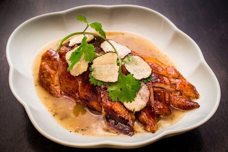 Truffle roasted duck