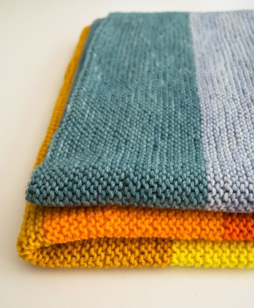 Easy Knit Patterns For Blankets : 194 best images about Knitting - blankets on Pinterest