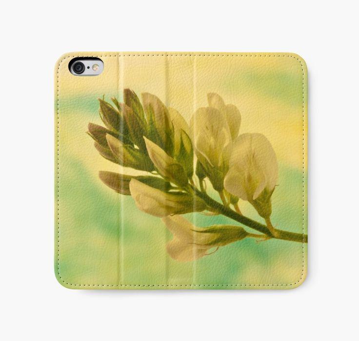 iPhone Wallet #wildflower #milkvetch   https://www.redbubble.com/people/sandrafoster/works/10486019-white-milkvetch-wild-flower-macro?p=iphone-wallet