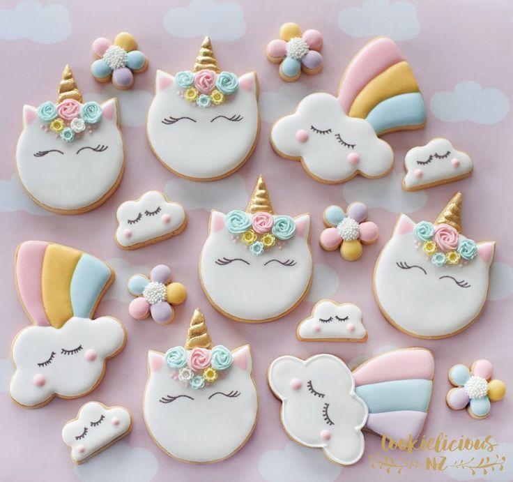 Rainbow Unicorn sugar cookies