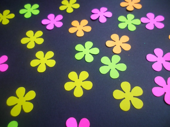 80 Neon Flowers by ang744 on Etsy, $3.50: Neon Flowers
