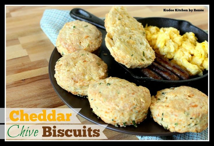Homemade Cheddar Chive Biscuits