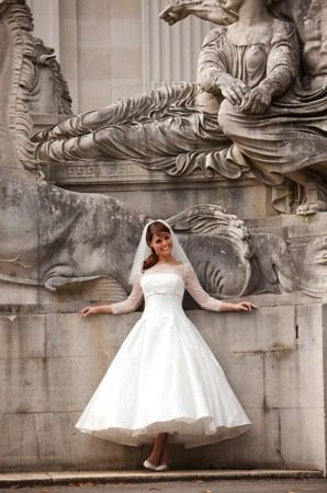 Blue summer rose wedding dress