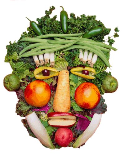 fresh vegetable face